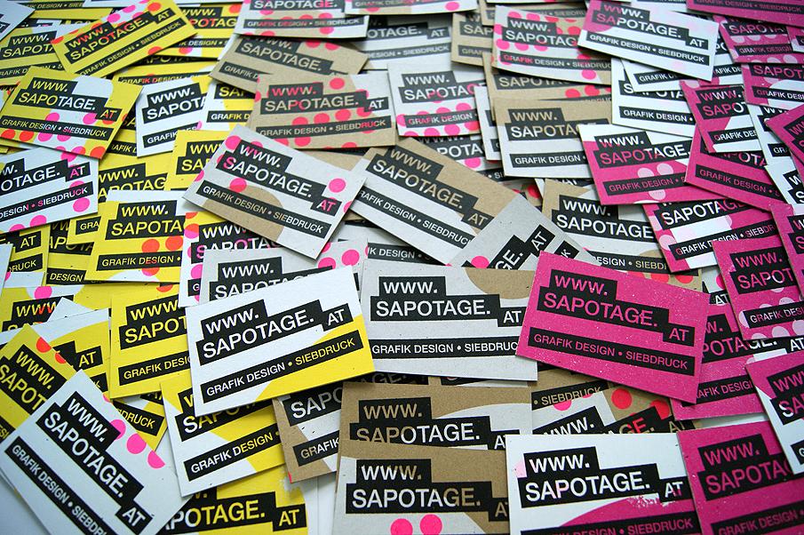 Sapotage Visitenkarten Www Sapotage At