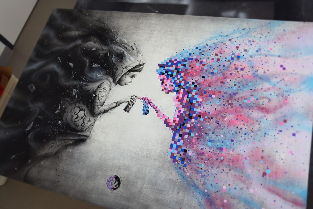 Pixel series pez artwork com personal network