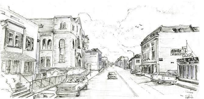 urban design city sketching lydia marsh