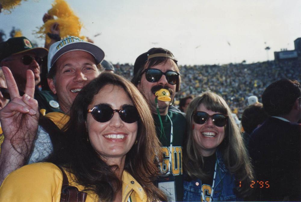 a42ef364f4 Below: Tinker, Doug & wives at an Oregon Football game.