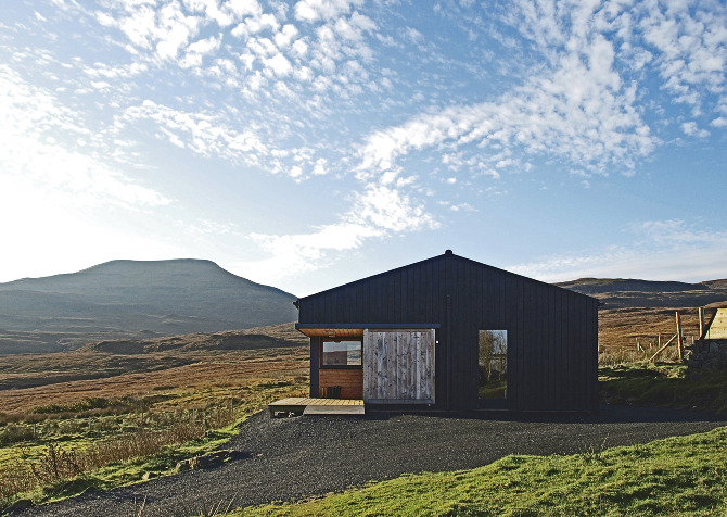 The Black Shed Rural Design Architects Isle Of Skye