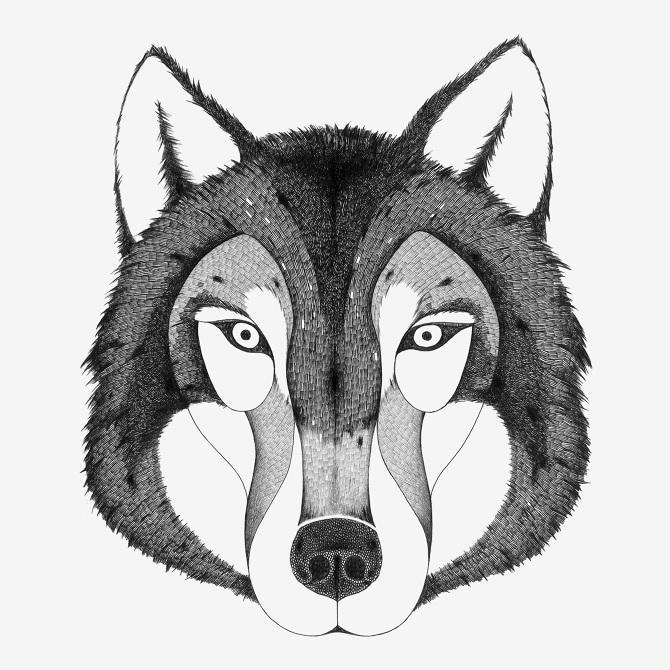 картинка маска волка раскраска того, как