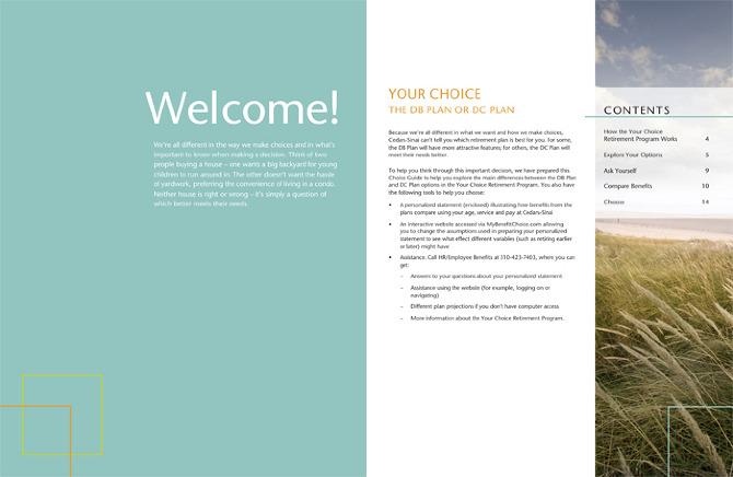 Corporate Identity Design | Cedars-Sinai Hospital