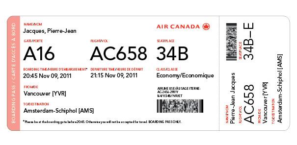 Air Canada Boarding Pass Redesign Alex