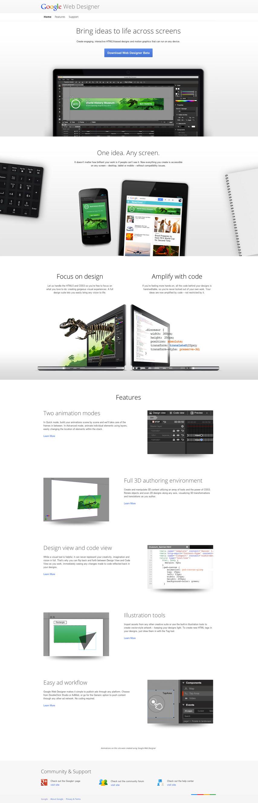 google web designer 3d animation