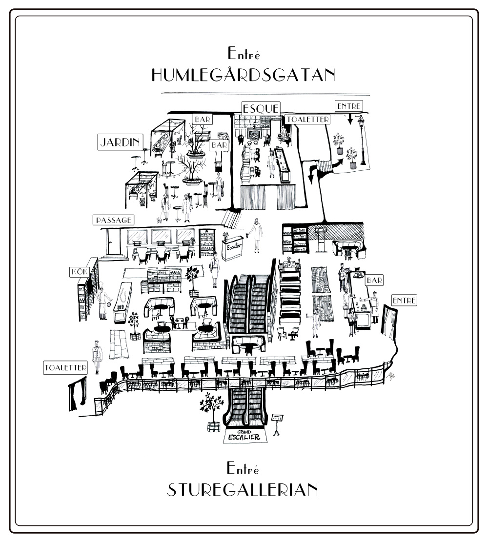 Map, Grand Escalier, Stockholm - Micaela Wernberg