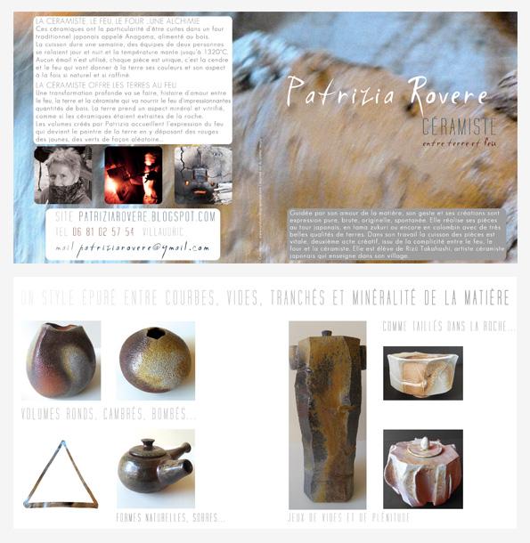 Carte De Visite Plaquette Et Blog Logotype Leaflet And Business Card For A Ceramist