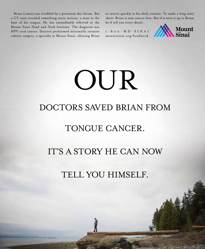 Mount Sinai Medical Center - John DeVito Advertising