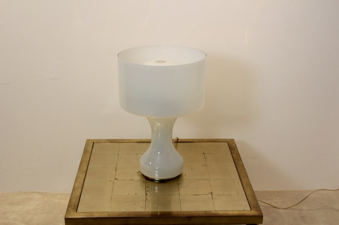 Snow White Venini Murano Glass Table Lamp Mooiestukken