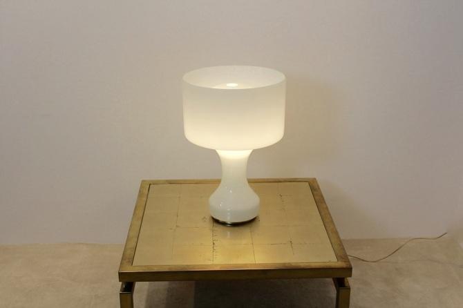 Snow White Venini Murano Glass Table Lamp Mooiestukken