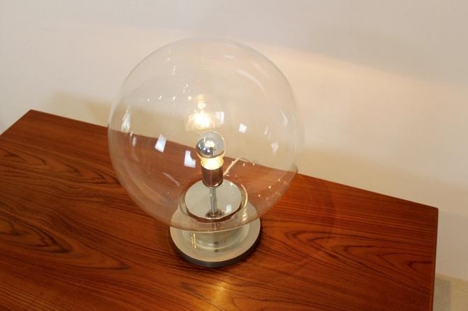 Raak Amsterdam Xl Globe Chrome And Glass Table Lamp