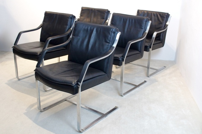 Walter Knoll Leather Art Collection Chairs By Rudolf B