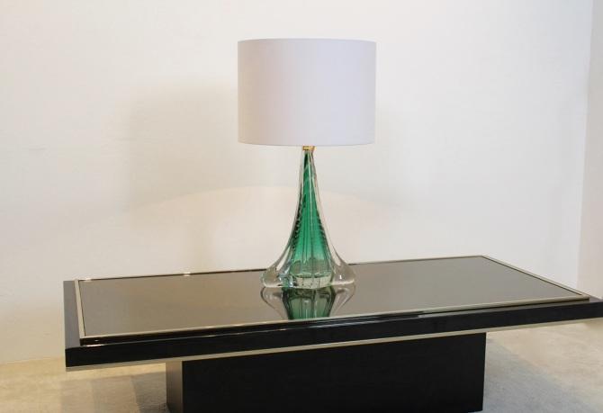 Handmade Boussu Translucent Glass Table Lamp Mooiestukken