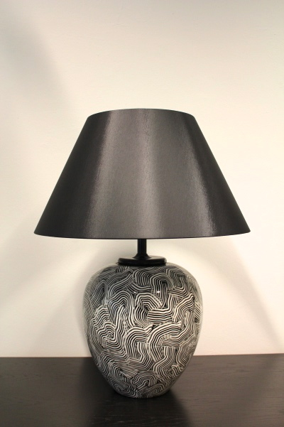 Pair Of Xl Ceramic Table Lamps For Pander Holland