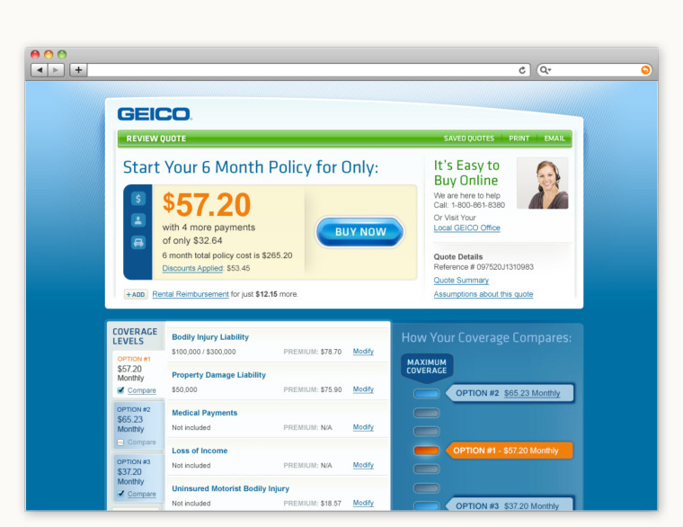 Geico Quote | Geico Quote Interface Jeff Walter Design Illustration