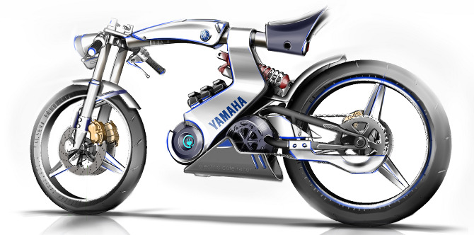 Yamaha Electric Motorcycle >> Yamaha Open Source Electric Motorcycle Chan Sik Park Design