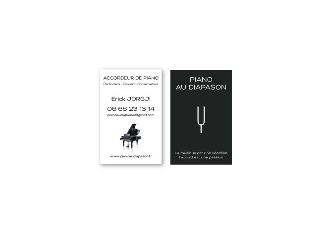 Cration De Cartes Visite Pour Piano Au Diapason Accordeur Corse