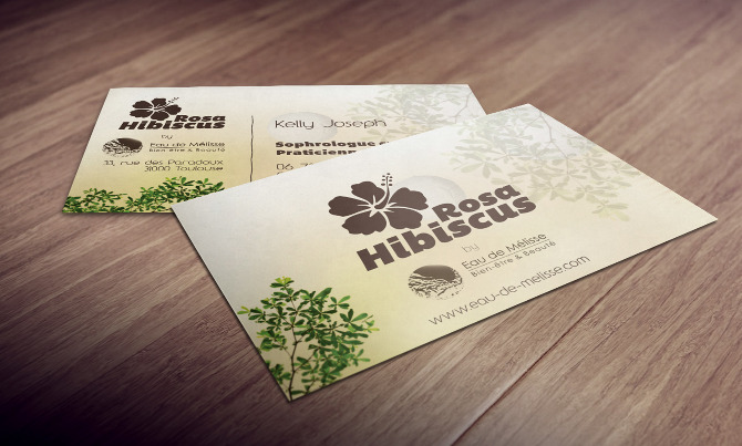 Cartes De Visite Pour Hibiscus Rosa Sophrologue Caycedienne Praticienne Shiatsu Toulouse