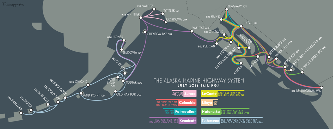 Pelican Bay Alaska Map.Alaska Marine Highway Map Somethingaboutmaps