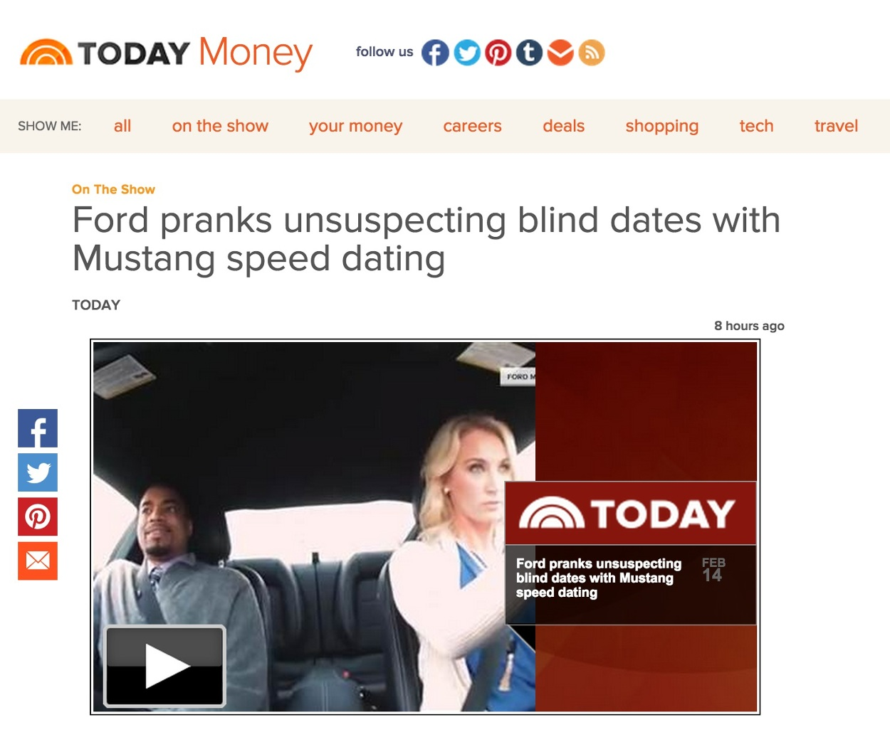 speed dating mustang youtube