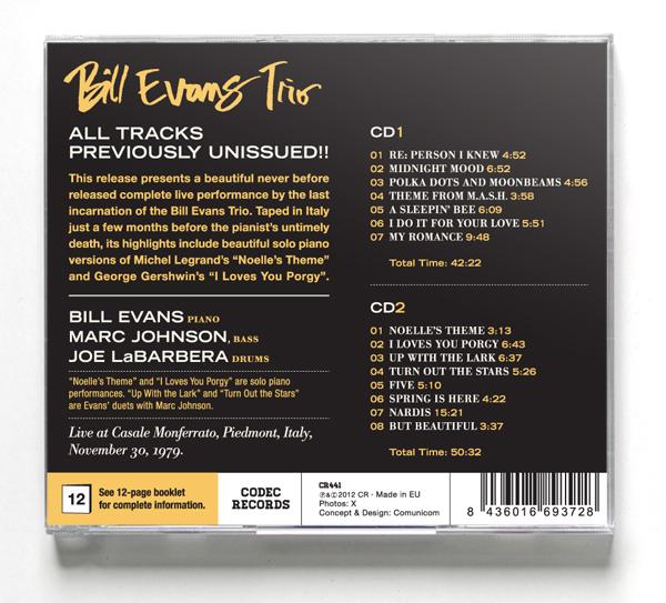 Bill Evans - Casale Monferrato - El Señor Gómez / Diseño gráfico