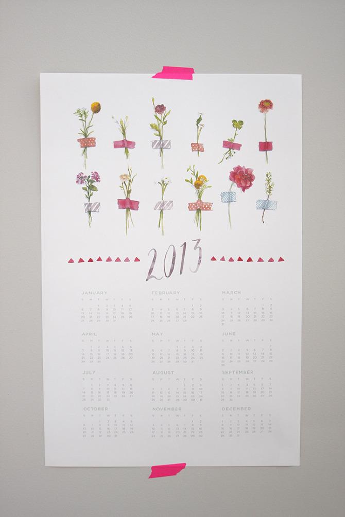 2013 Watercolor Calendar - Song & Dance