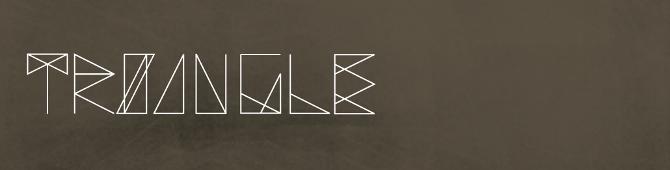 Triangle Font Karinacahyadi