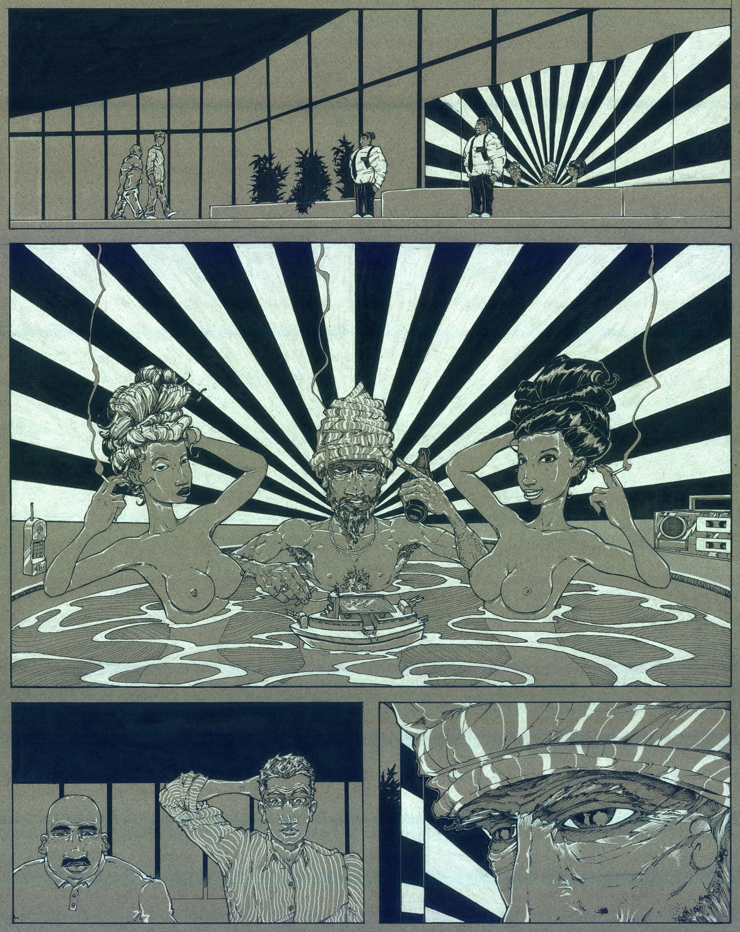 Parts of a failed Comic I made through film school
