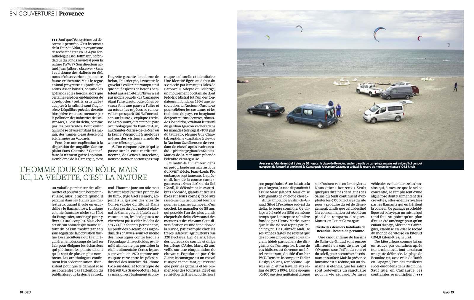 Tearsheet Geo Commission Riverboom To Photograph The Camargue