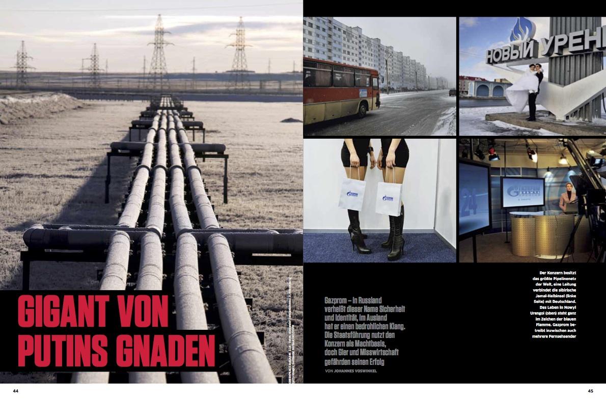 tearsheet: Guillaume Herbaut's 'Gazprom' in Greenpeace