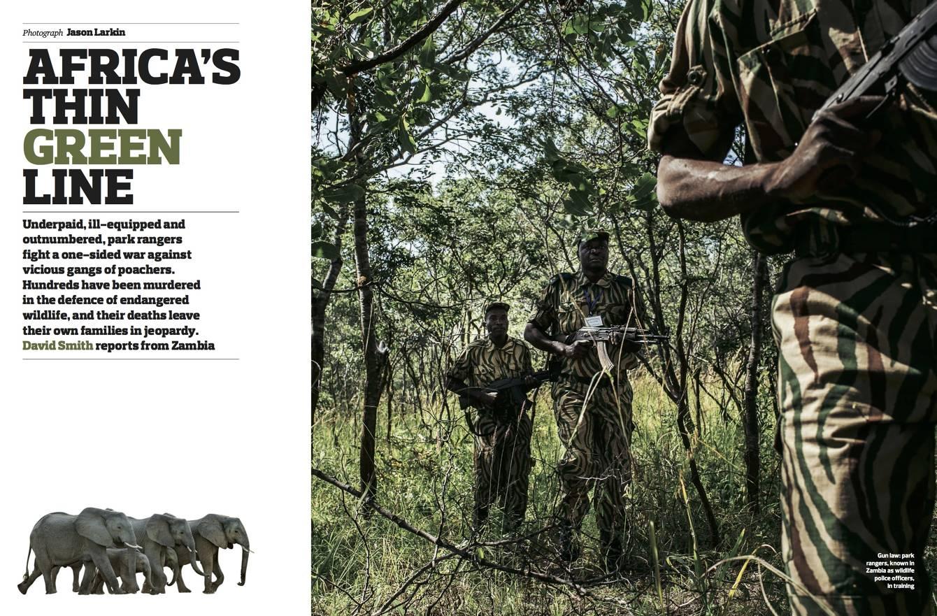 tearsheet: Jason Larkin photographs for the Observer Magazine