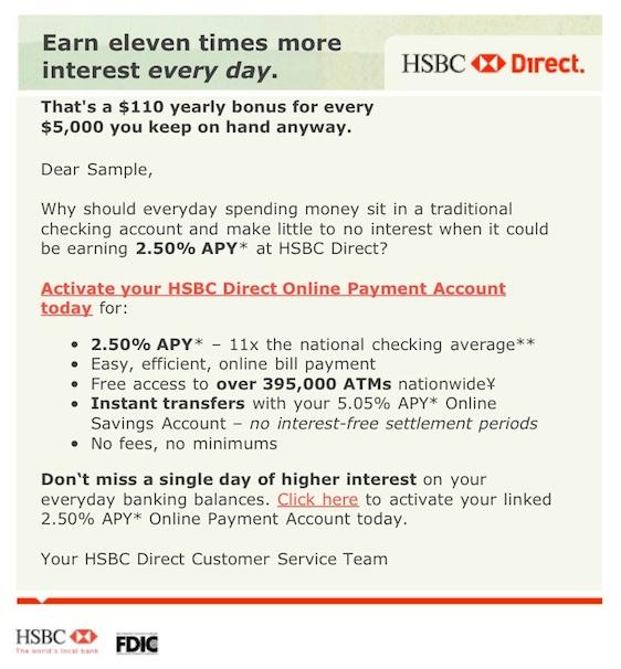 HSBC - emails - Adam Kuhr :: Creative Director, Copywriter, Good Guy