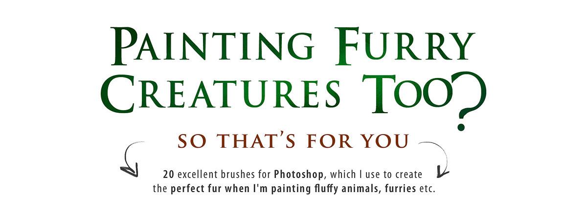 Realistic FUR Brush Set for Photoshop - The Art of Eldar Zakirov