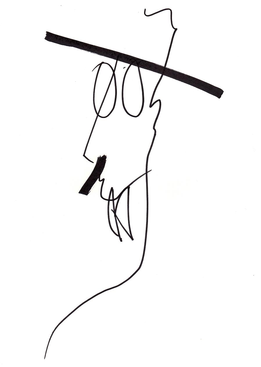 Desenho Fernando Pessoa 1 Alexandremarreiroscom
