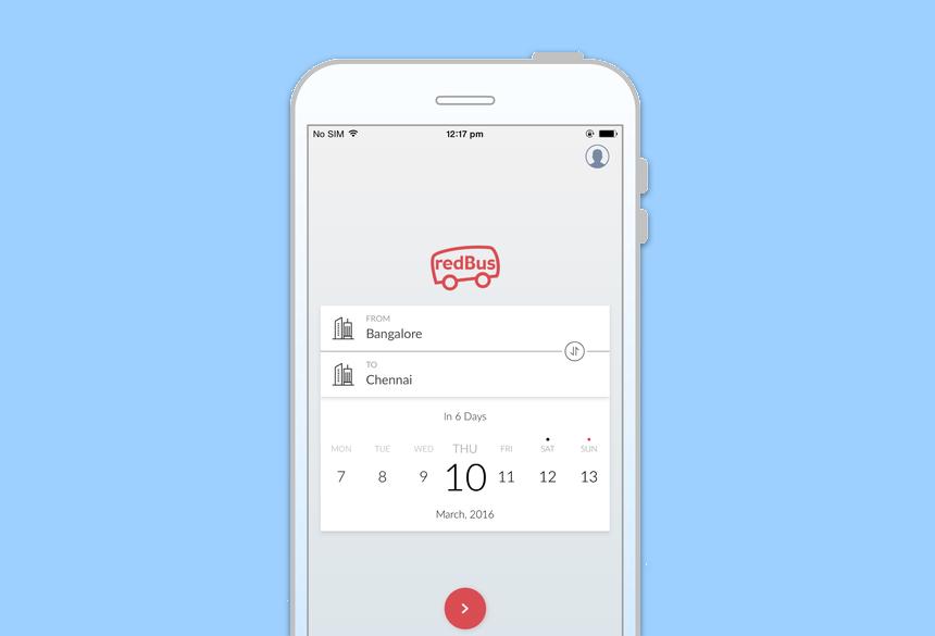 Redbus: Mobile web design - Paulami - Roychoudhury