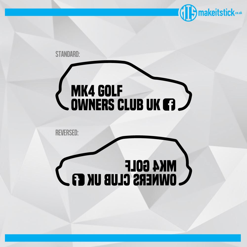 MK4 Golf Owners Club UK - Stickers - StylerDesign - Graphic