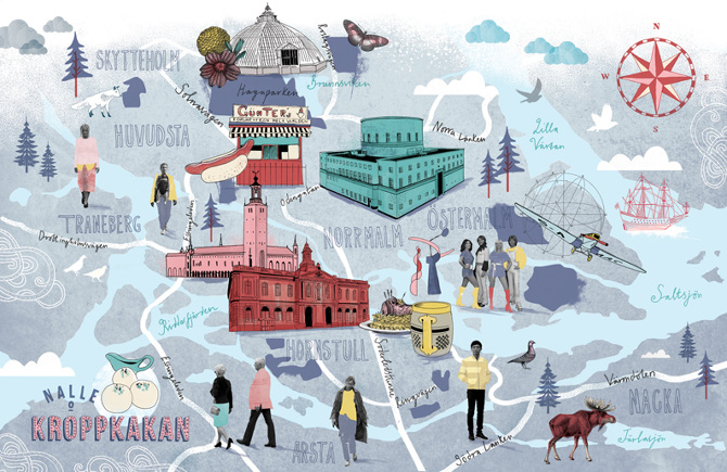 Map of Stockholm - BBC Focus Magazine - Tonwen Jones Map Of Stockholm on
