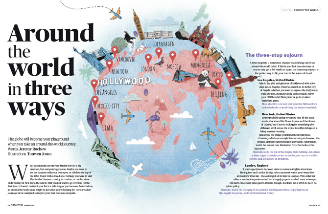 World Map With Australia.World Map Samotor Magazine Australia Tonwen Jones