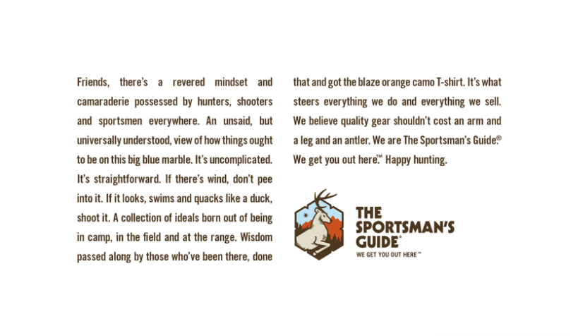 The Sportsman's Guide - Things I Write