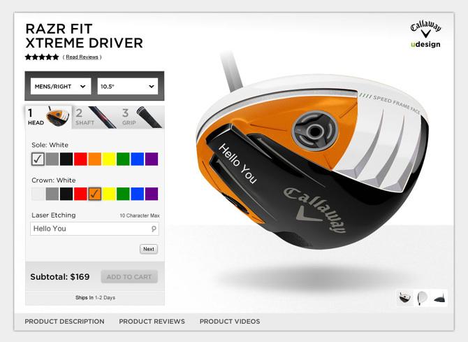 callaway golf udesign product configurator natalie hasty. Black Bedroom Furniture Sets. Home Design Ideas
