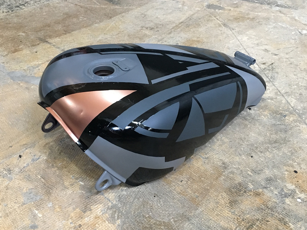 Commission: Motorcycle Gas Tank - Debbie Clapper