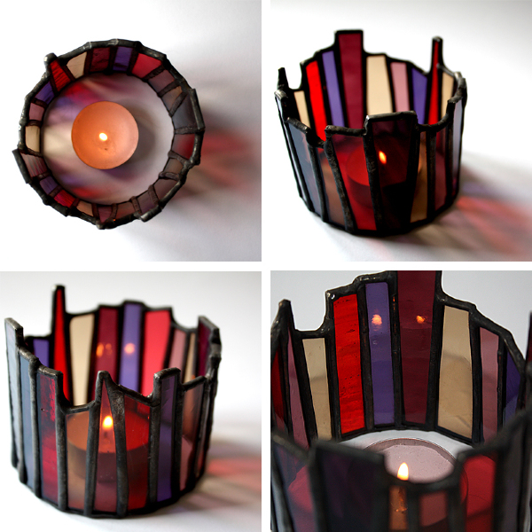 Candle Crowns Glass Art