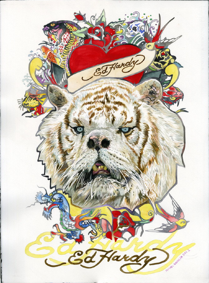 Ed Hardy Down Syndrome Tiger Michael Gaughan