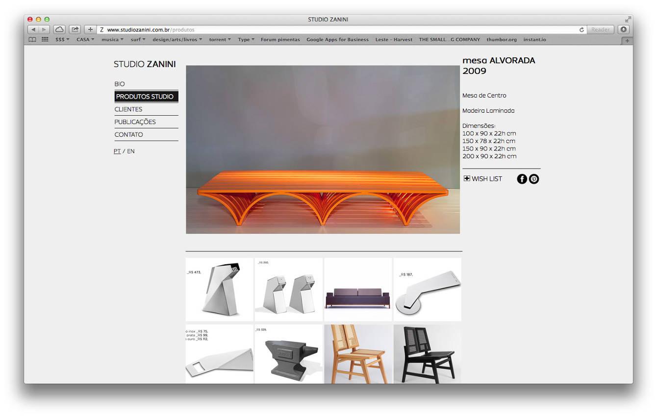 246981c0b Site do designer Zanini de Zanine.