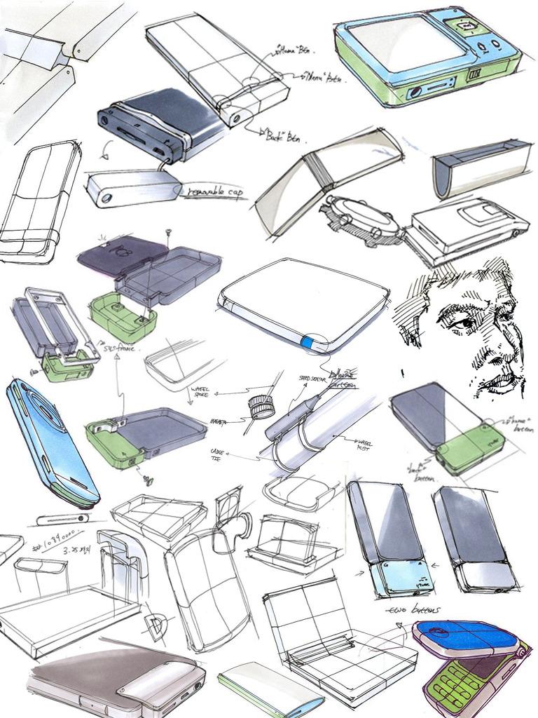 Sketch product design portfolio for Designed product