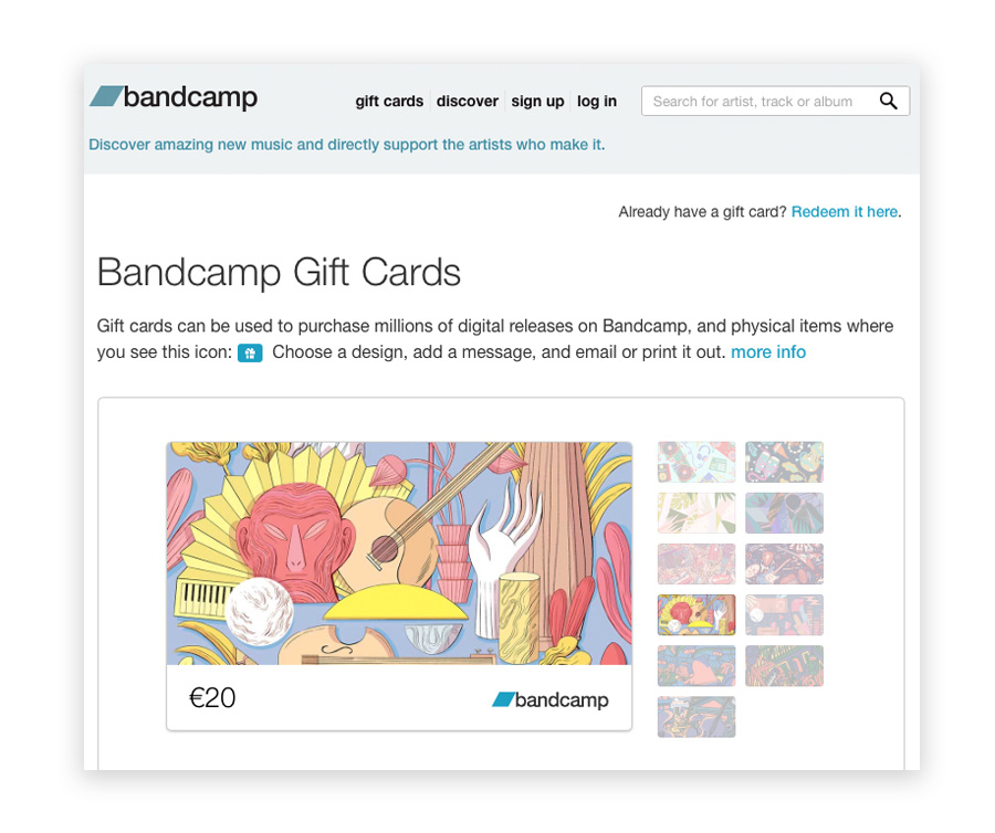 BANDCAMP / GIFT CARDS - Elisa Macellari / illustrator
