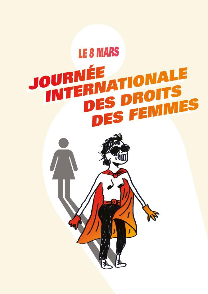 Affiche Pour La Journée De La Femme 8 mars - lisa hab