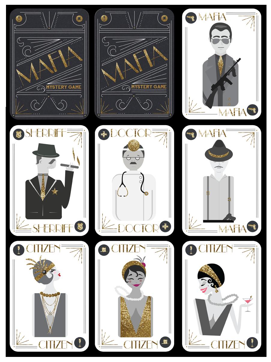 Mafia Playing Cards Claire Darnell S Design Portfolio