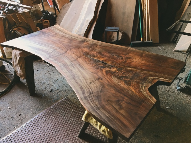 f3f93e3b11957 Claro Walnut Live Edge Dining    Conference Table - ambrosewoodworks.com -  Personal network