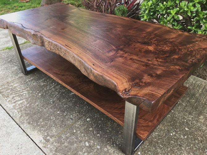 Incredible Two Level Black Walnut Coffee Table Ambrosewoodworks Com Bralicious Painted Fabric Chair Ideas Braliciousco